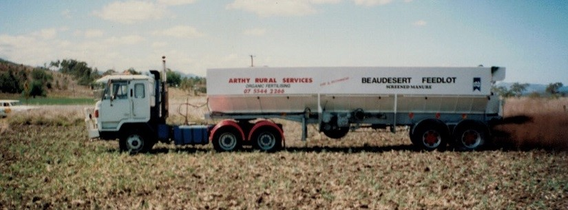 Ray's first semi-spreader, built in our Laravale workshop in the early 90's